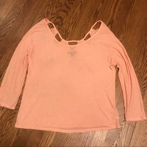 AMERICAN EAGLE OUTFITTERS coral top
